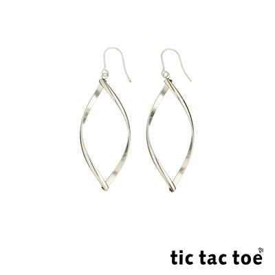 tic tac toe 白鋼女耳環 垂墜式耳勾耳環 TR-5013