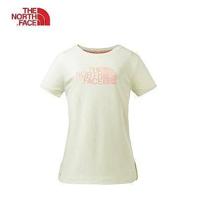 The North Face北面女款白色舒適合身戶外短袖T恤|3GCG11P