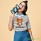 bossini女裝-拉拉熊系列印花短袖T恤04灰白