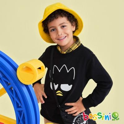 bossini男童-酷企鵝圖案厚棉T恤黑