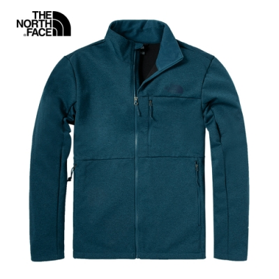 The North Face北面男款藍色防風立領輕量風衣 4UAWQ4V