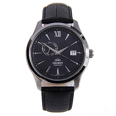 ORIENT東方錶 醇黑風潮鏤空錶背機械腕錶(FAL00005B0)-黑/42mm