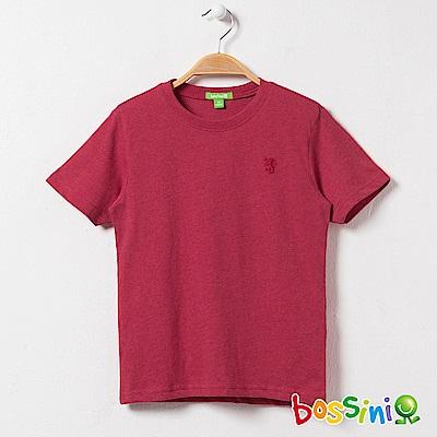 bossini男童-短袖圓領素色TEE01紅