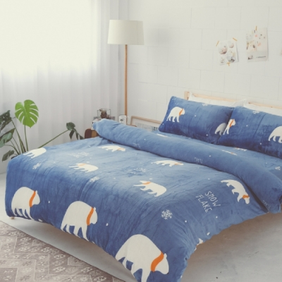 BUHO 極柔暖法蘭絨雙人兩用毯被+單人床包三件組(多款花色)