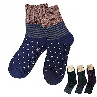 本之豐 短統保暖禦寒全毛巾厚底點點止滑毛襪-12雙