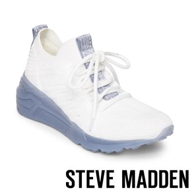 STEVE MADDEN-CELLO 前衛運動素色款綁帶休閒球鞋-特殊紋藍色