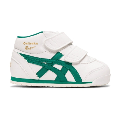 Onitsuka Tiger鬼塚虎-MEXICO MID RUNNER TS 小童鞋 (白底綠邊)-1184A001-103