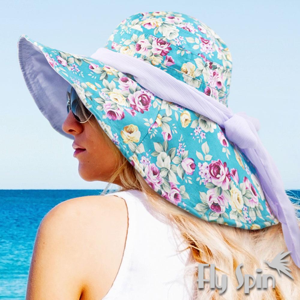 FLYSPIN 抗UV可收納寬邊遮陽淑女帽