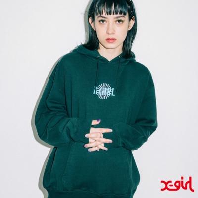 X-girl SPIRAL LOGO SWEAT HOODIE連帽上衣-綠