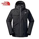 The North Face北面男款黑色防水透氣外套|3KT2JK3