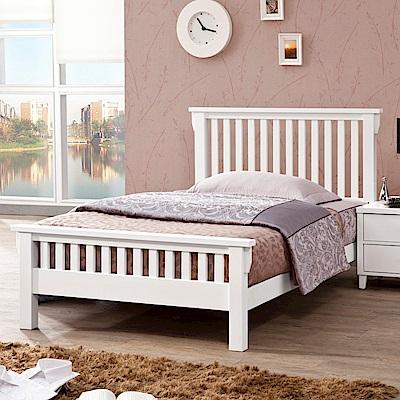D&T德泰傢俱 ASAIIS白色北歐實木3.5尺單人床-107x199x100cm
