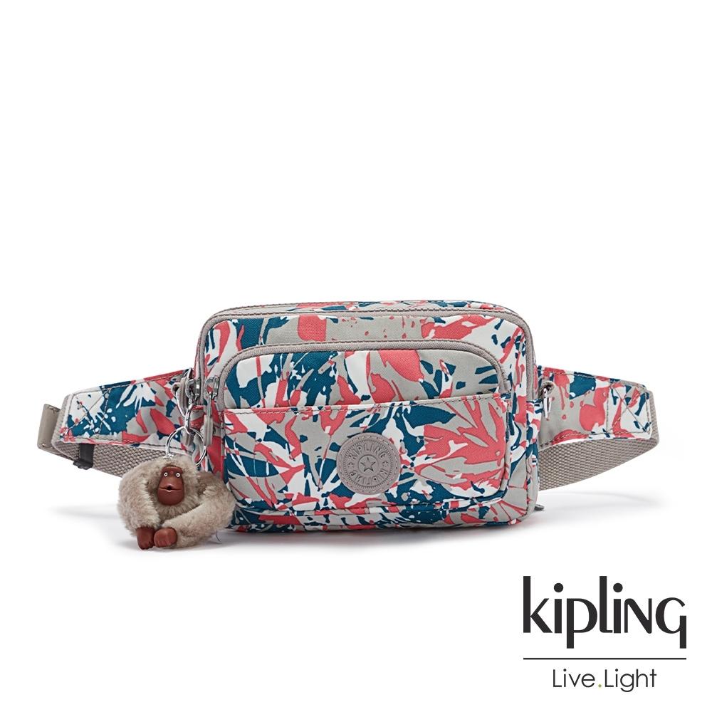 Kipling 碰撞魅力潑墨多重背法前袋腰包-MERRYL