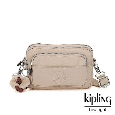 Kipling 溫暖奶茶色多重背法前袋腰包-MERRYL
