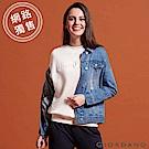 GIORDANO 女裝洗舊感多口袋刷色牛仔外套-01 淺藍