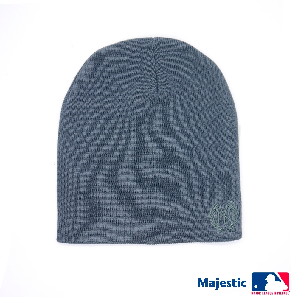MLB-洋基純色電繡質感毛帽-深灰