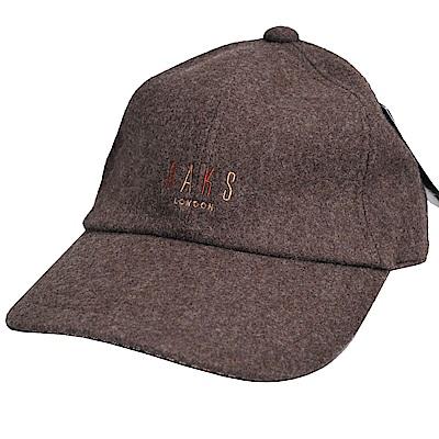 DAKS 日本製經典字母刺繡LOGO毛造型棒球帽(深咖啡系)