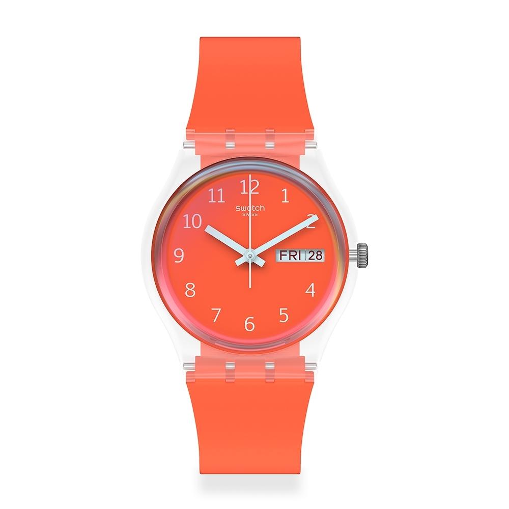 Swatch 原創系列手錶 RED AWAY 遠走紅-34mm