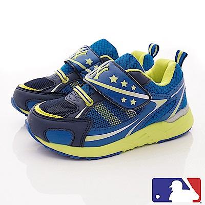 洋基MLB童鞋 雙層網布彈力運動款 NI53067藍(中小童段)