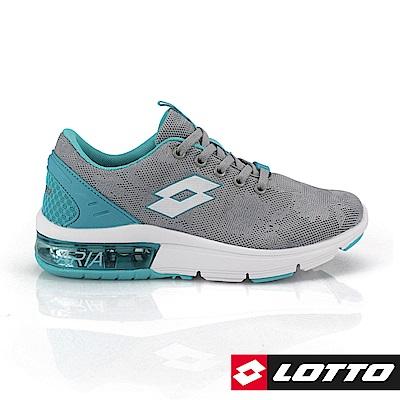 LOTTO 義大利 女 ARIA CHINO氣墊跑鞋 (灰/藍)
