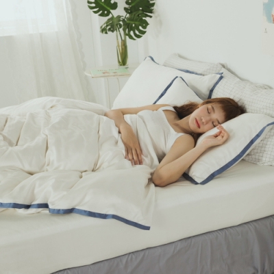 絲薇諾 60支天絲 白菫 加大四件式-薄床包薄被套組