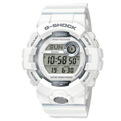 G-SHOCK 百搭玩色風格運動計步藍芽錶(GBD-800-7)白/54.1mm