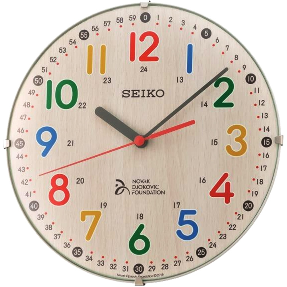 SEIKO 精工 滑動式秒針 靜音 座掛兩用 掛鐘/桌鍾(QXA932Z)-卡其/21cm