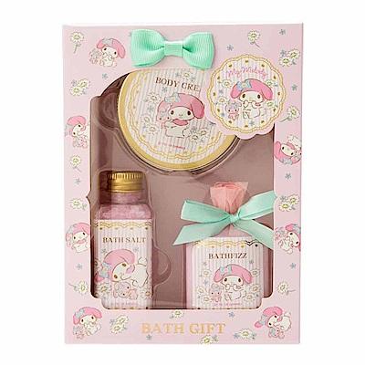 Sanrio 美樂蒂香氛保濕沐浴品禮盒3件組(百花香)