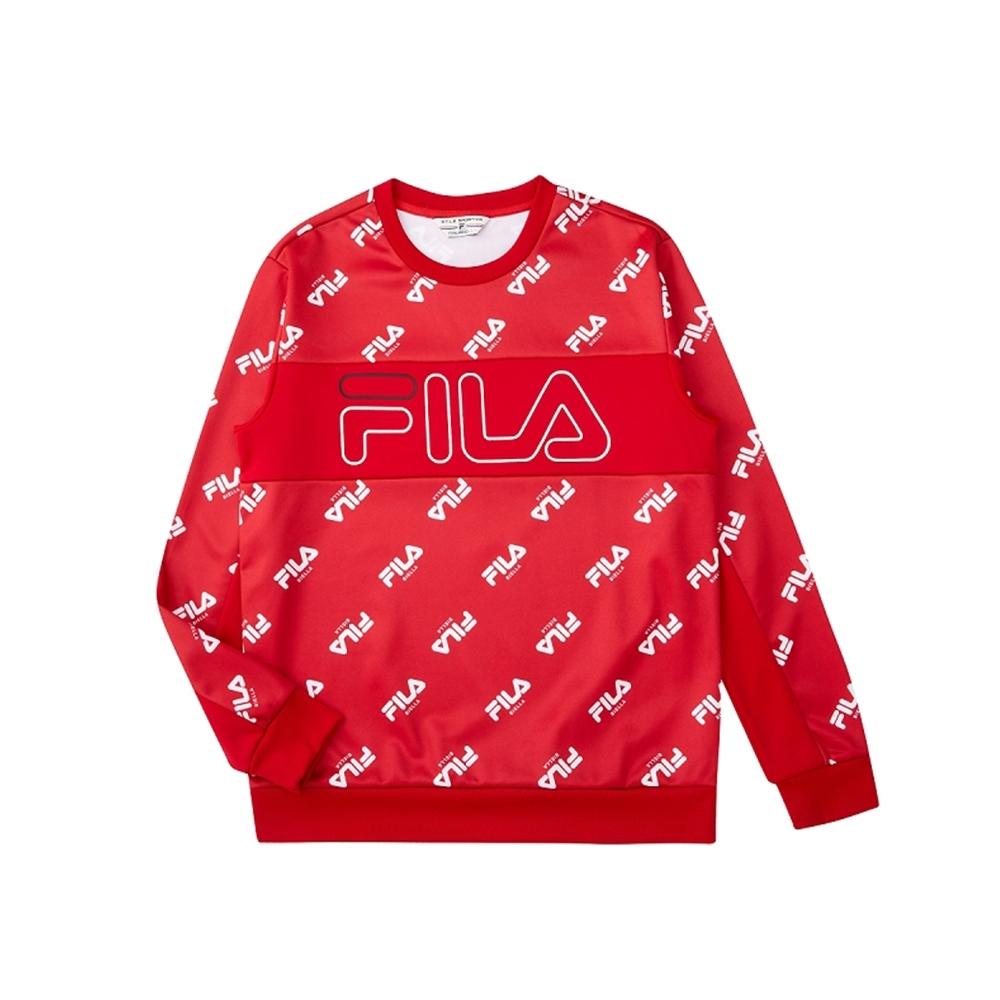 FILA 男吸濕排汗圓領T恤-紅色 1TEU-5481-RD