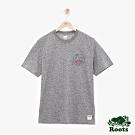 男裝ROOTS 動物系列短袖T恤-灰色