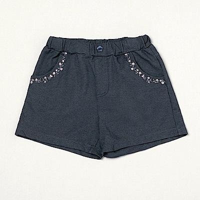 PIPPY 舒適刺繡質感短褲 藍