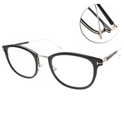 TOM FORD眼鏡 優雅雙色質感款/黑-金 #TF5612B 001