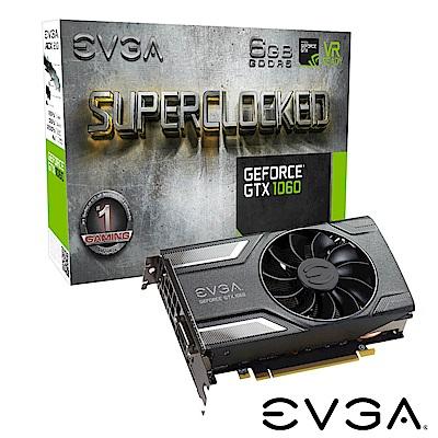 艾維克EVGA GTX1060 6GB SC GAMING ACX2.0 PCI-E圖形卡