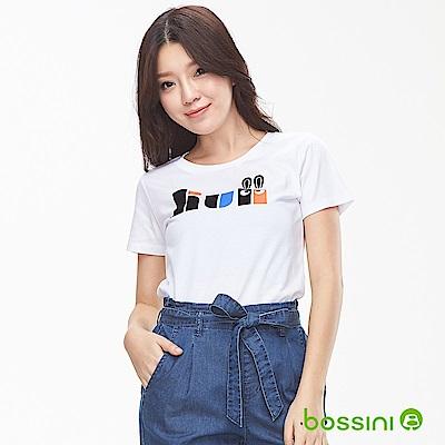 bossini女裝-印花短袖T恤21白