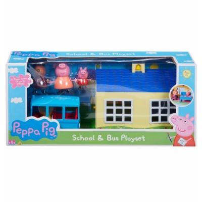 Peppa Pig 粉紅豬小妹 - 學校房子+小校車