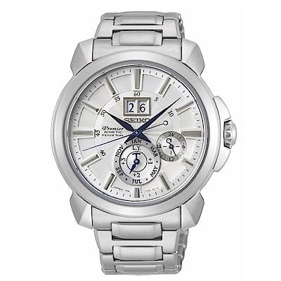 SEIKO精工Premier紳仕人動電能萬年曆腕錶SNP159J1/7D56-0AG0S