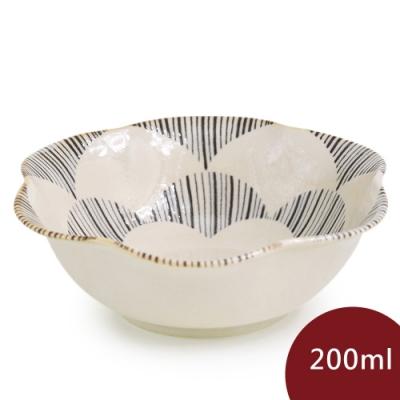 Natural69 波佐見燒  粉引釉 六方押 花形餐碗  花 200ml 日本製