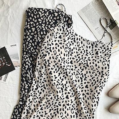 豹紋細肩連身裙-2色-TMH