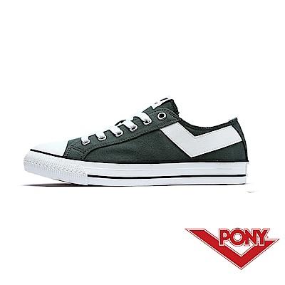 【PONY】Shooter系列百搭復古帆布鞋休閒鞋 女鞋 橄欖綠