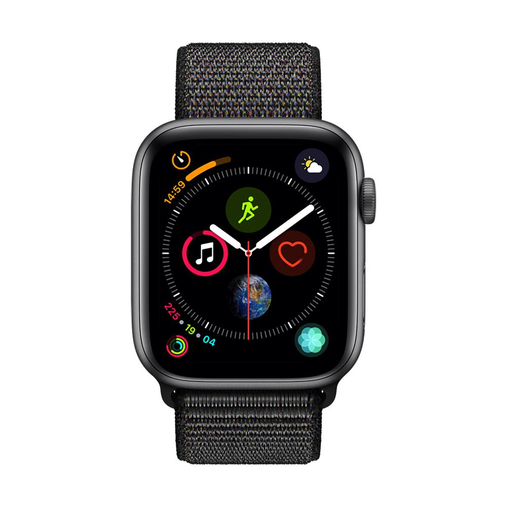 Apple Watch Series 4(GPS) 44mm太空灰色鋁金屬錶殼+黑色錶環 @ Y!購物