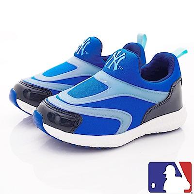 洋基MLB童鞋 超輕休閒運動款 NI73023藍(中小童段)