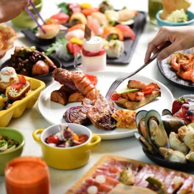 台北W飯店 雙人the kitchen table 週一至週五自助午餐/週一自助晚餐吃到飽