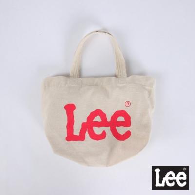 Lee Logo印花小型 手提袋 桃紅logo