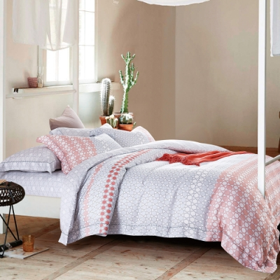 Ania Casa 可言 天絲 100% TENCEL 雙人鋪棉兩用被套床包四件組