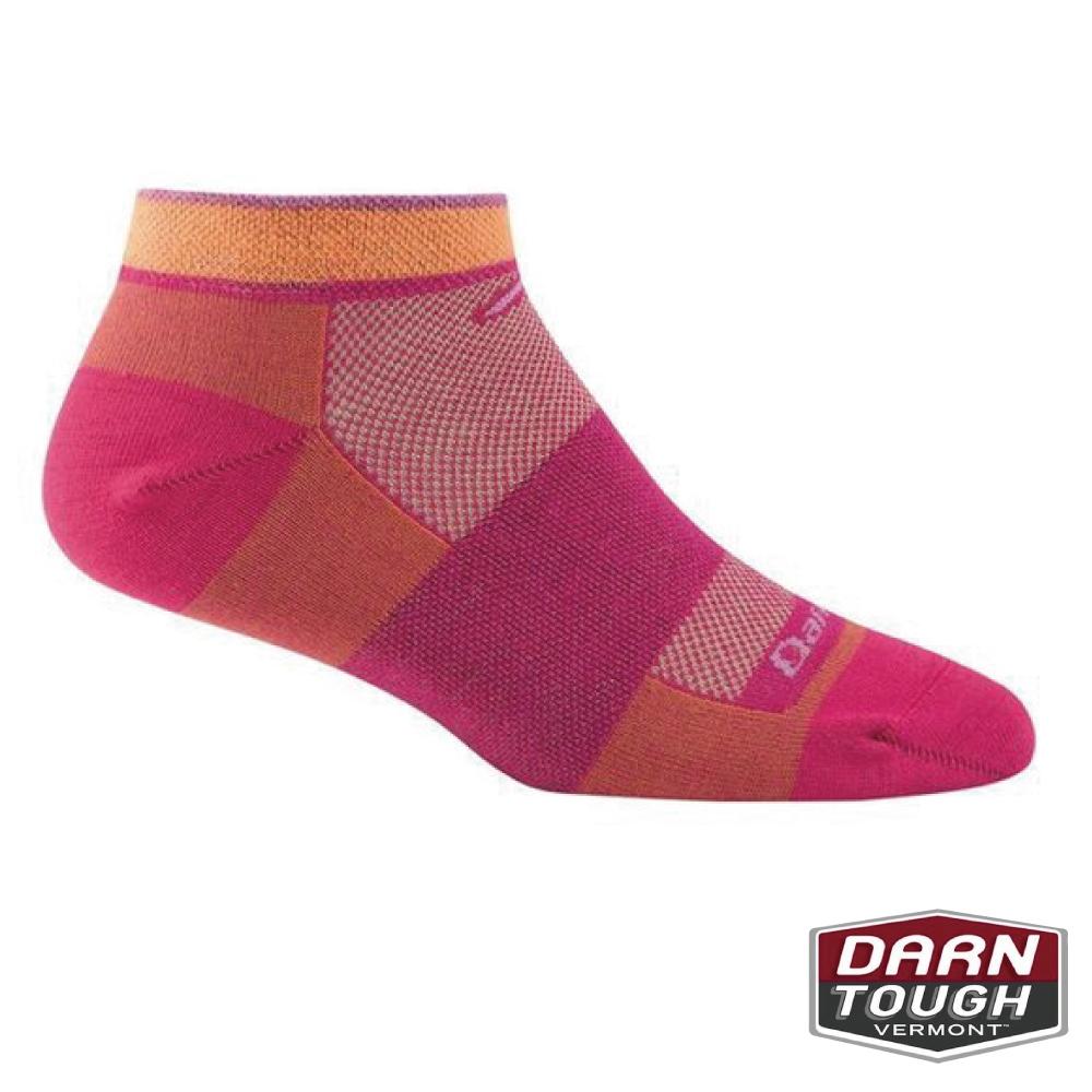 【美國DARN TOUGH】女羊毛襪NO SHOW越野運動襪(2入隨機)
