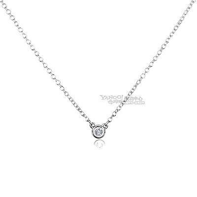 TIFFANY&Co.Elsa Peretti 0.03克拉圓形鑽石純銀項鍊