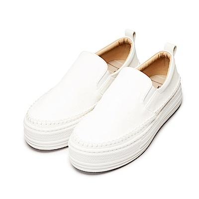BuyGlasses 名媛休閒厚底增高休閒鞋-白