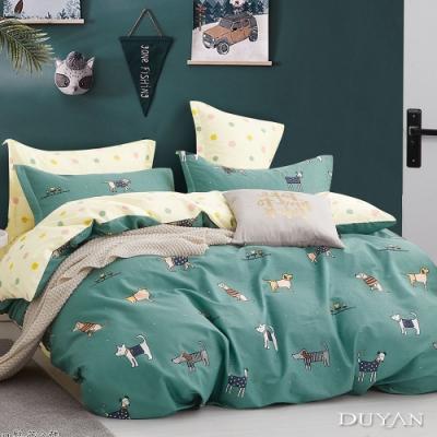 DUYAN竹漾-100%精梳純棉-單人三件式舖棉兩用被床包組-踏青日 台灣製