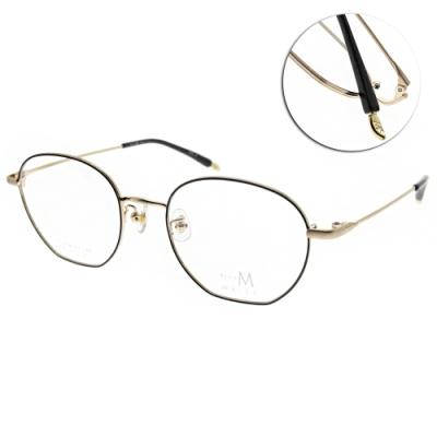 MA-JI MASATOMO 眼鏡  多邊形文藝款/黑-金#PMJ511 COL2