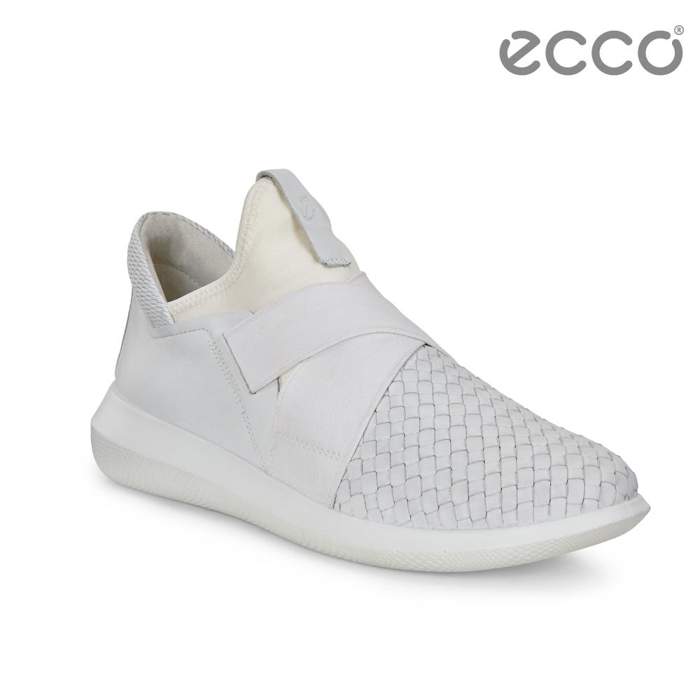 ECCO SCINAPSE W 編織紋套入式休閒運動鞋 女-白