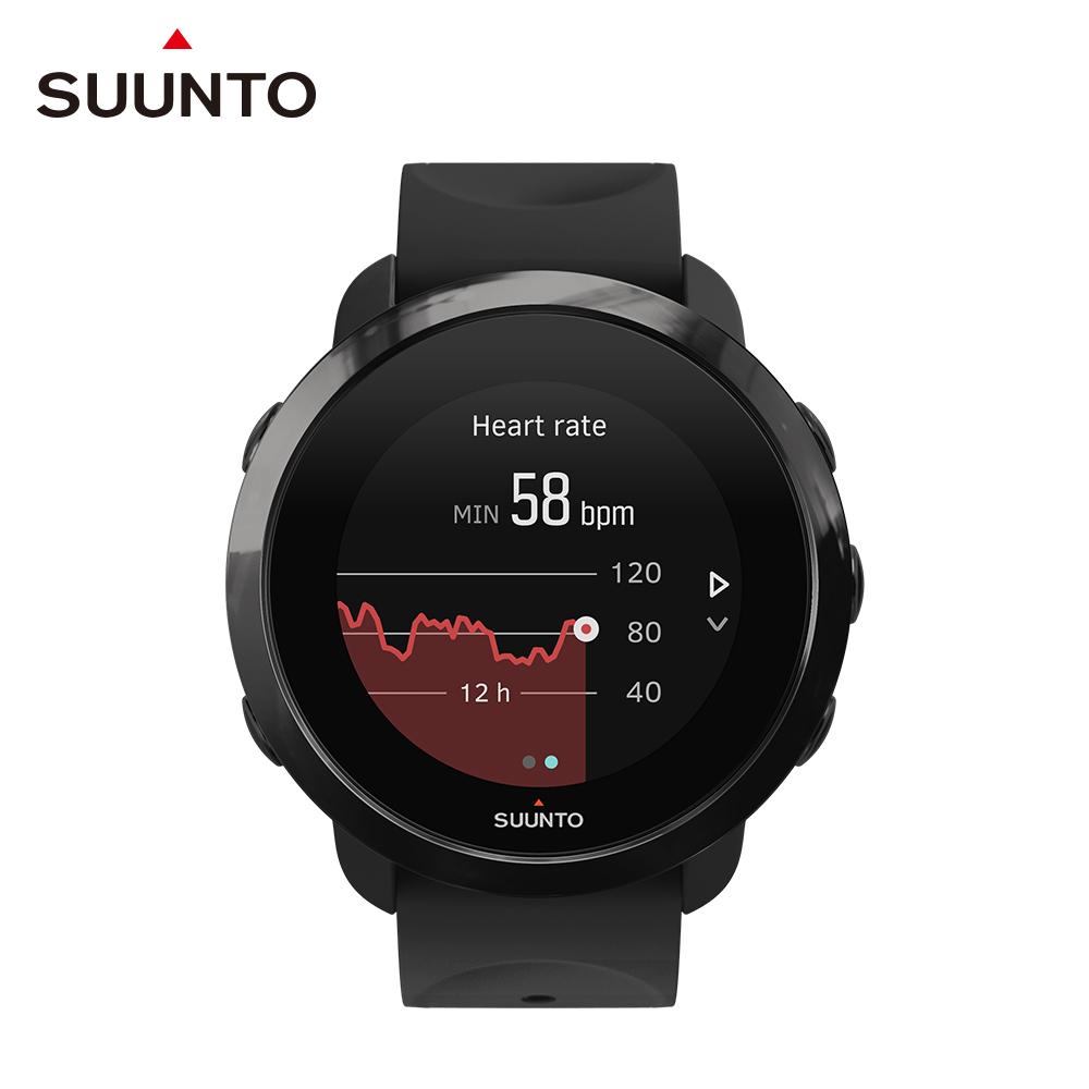 SUUNTO 3 Fitness 保持健康與活力生活的體適能運動腕錶 (全黑)